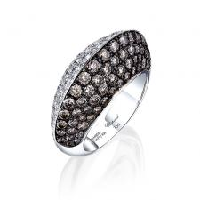 Chopard WHITE&BROWN DIAMOND PAVE DOUBLE SIDED RING