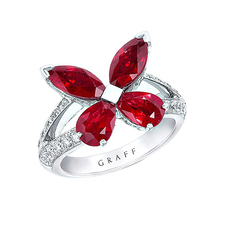 GRAFF CLASSIC BUTTERFLY RUBY RING