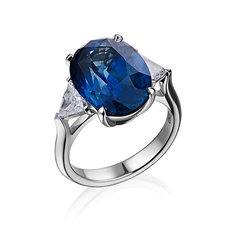 КОЛЬЦО NO NAME С САПФИРОМ 10.68 CT VIVID BLUE (ROYAL BLUE)