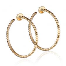 Van Cleef & Arpels. PERLEE PEARLS OF GOLD HOOP EARRINGS