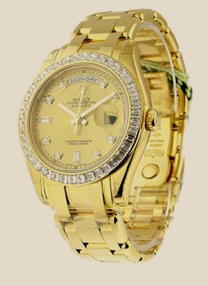 Швейцарские часы Rolex Yellow Gold with Baguette Diamond