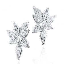 GRAFF ABSTRACT DIAMOND EARRINGS 5.03 CT