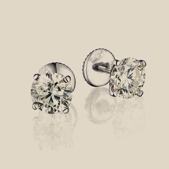 СЕРЬГИ NO NAME - 0.73 CT H/VS2 - 0.70 CT H/VS1