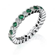GRAFF ETERNITY RING, EMERALDS