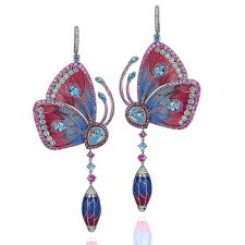 Jacob & Co PAPILLON EARRINGS