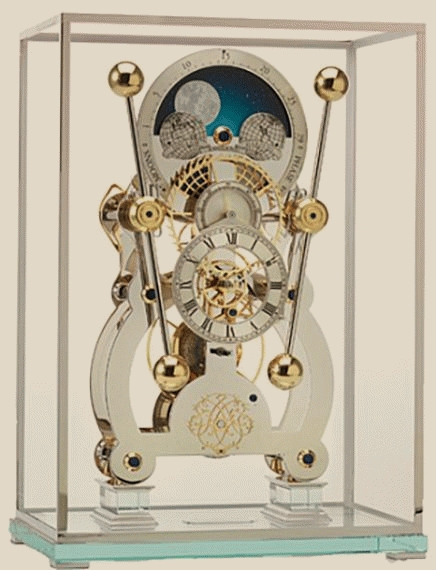 Sea Clocks Moonphase Seaclock Rhodium on glass