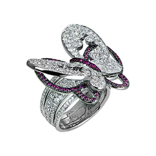 Jacob & Co PAPILLON DIAMONDS BUTTERFLY RING