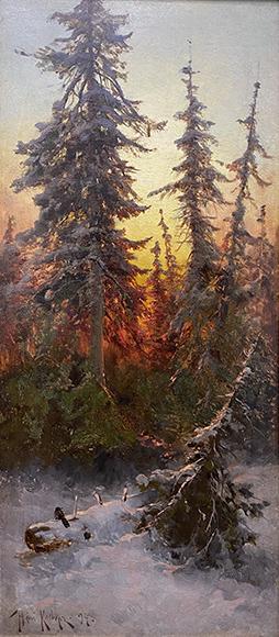 Зимний лес. Клевер Ю. Ю.